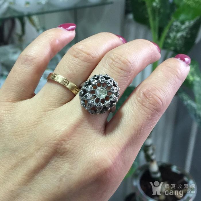8012欧洲回流老银嵌宝戒指图6