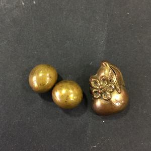 8015欧洲回流铜鎏金扣子三枚