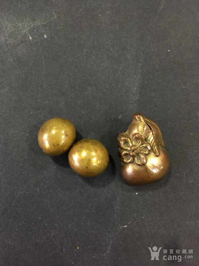 8015欧洲回流铜鎏金扣子三枚图1