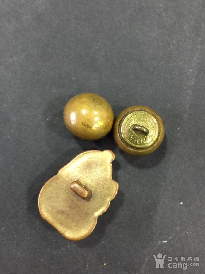 8015欧洲回流铜鎏金扣子三枚图5