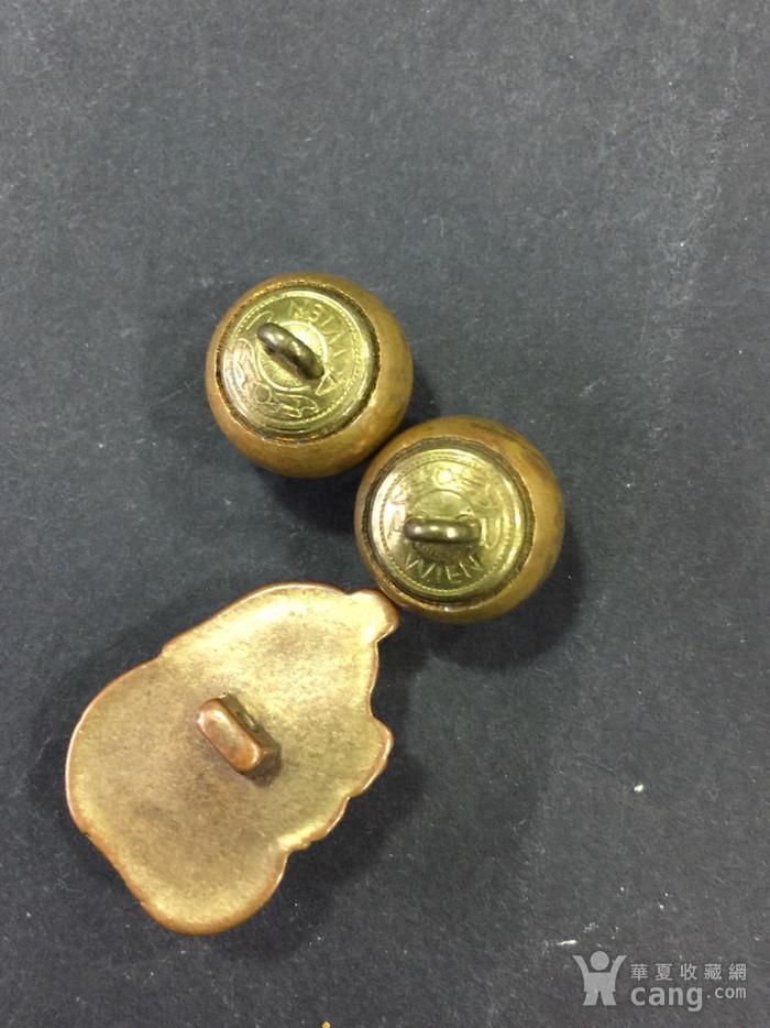 8015欧洲回流铜鎏金扣子三枚图6
