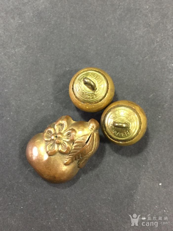 8015欧洲回流铜鎏金扣子三枚图7
