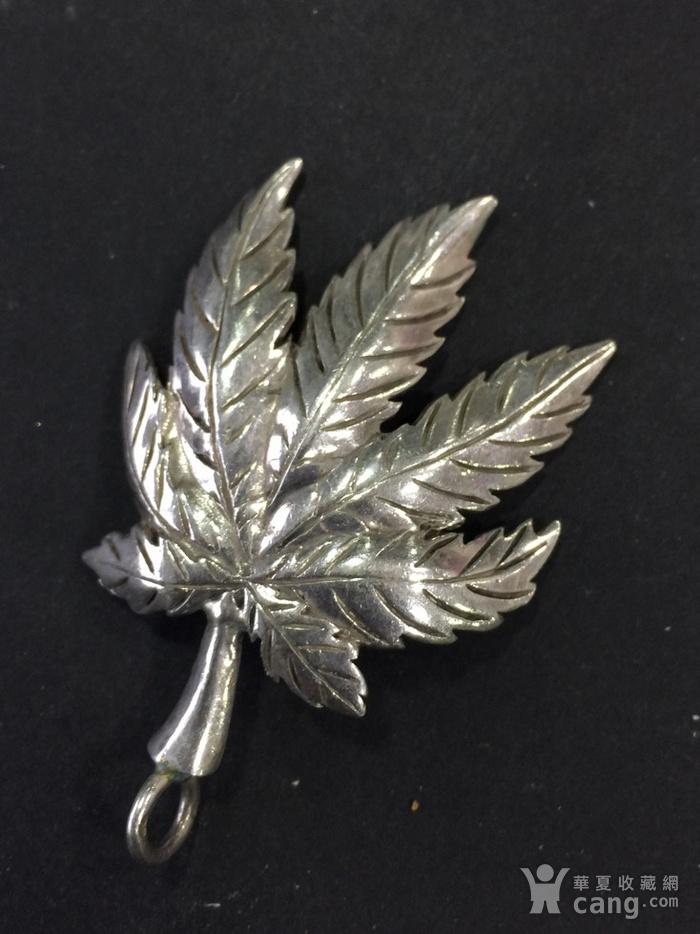 8016欧洲回流枫叶造型925银坠子图3