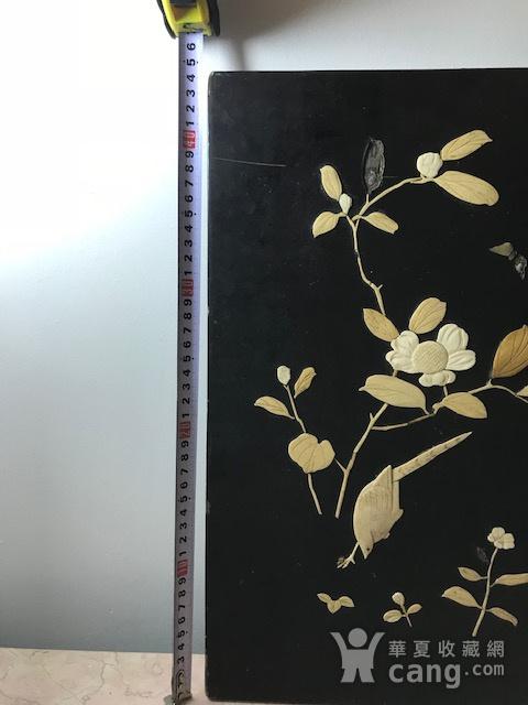 7479 清 嵌宝花鸟漆板图9