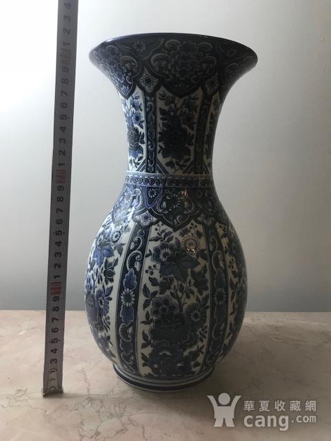 7459 欧洲回流荷兰青花牡丹敞口瓶图8