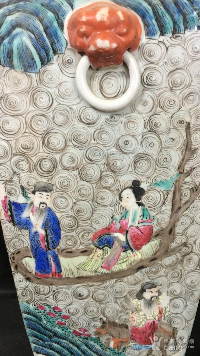 清中期群仙会粉彩兽耳大尊图6