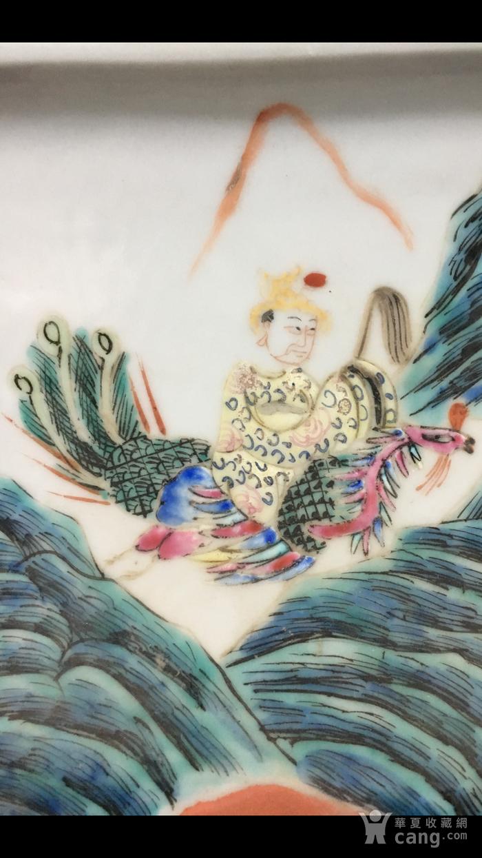 清中期群仙会粉彩兽耳大尊图10
