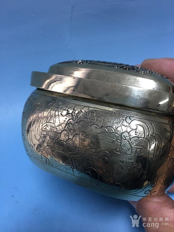 满功方型白铜手炉图6