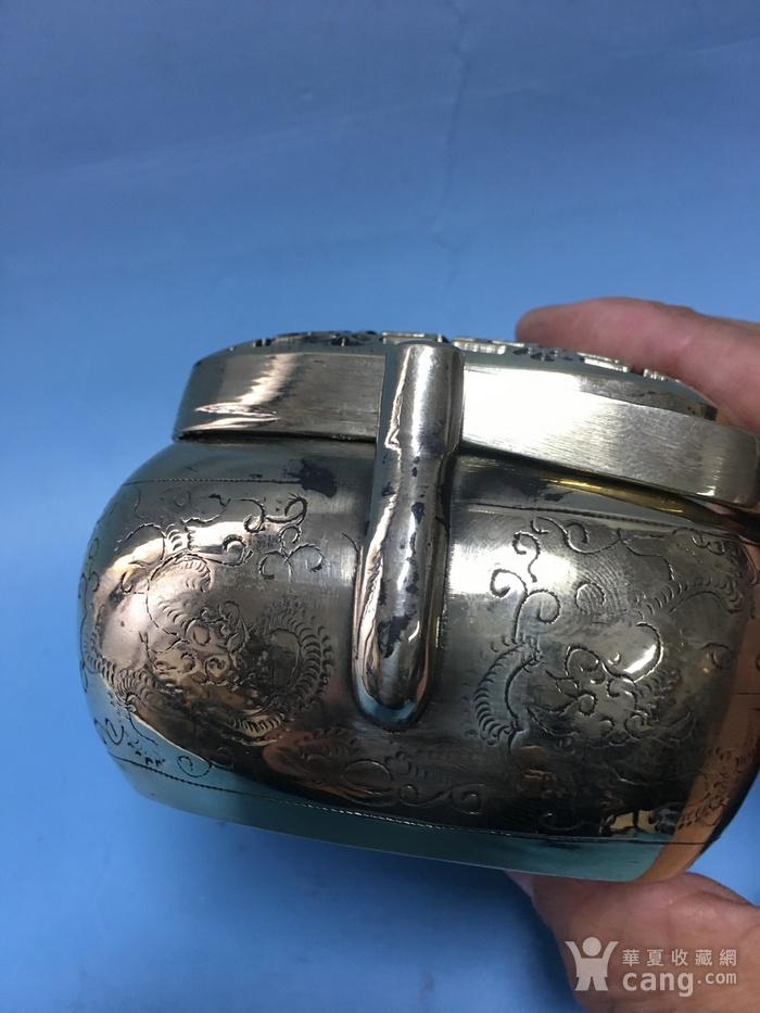 满功方型白铜手炉图7