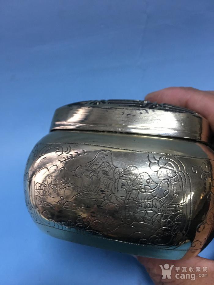 满功方型白铜手炉图8