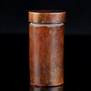 13清代角雕盖罐