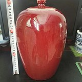 清中霁红冬瓜罐