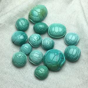 湖北原矿绿松石高瓷高蓝 富甲 龟壳