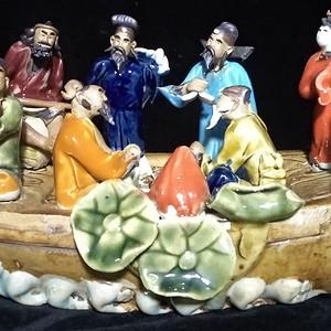 英国回流创汇时期八仙瓷塑