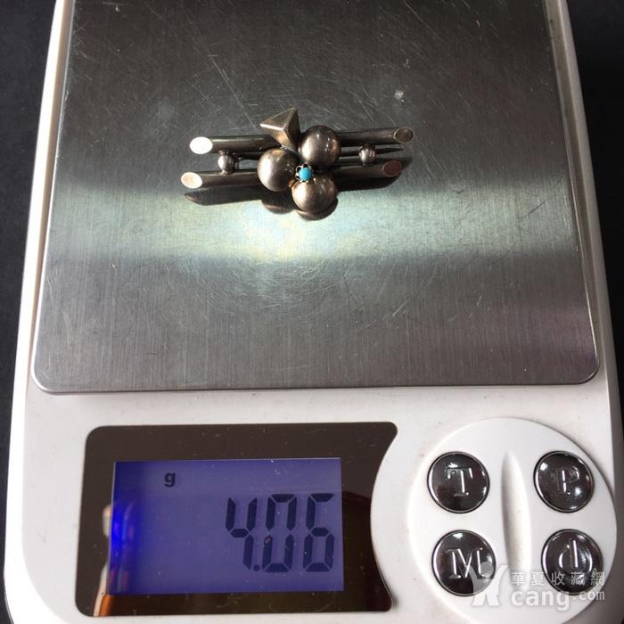 8054欧洲回流银嵌绿松石胸针图10