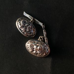 8058欧洲回流龙纹银袖扣