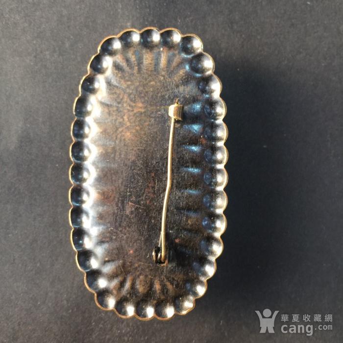 8059欧洲回流铜镶嵌血珀胸针图5