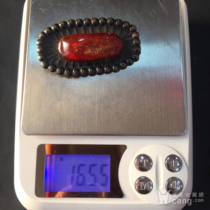 8059欧洲回流铜镶嵌血珀胸针图10