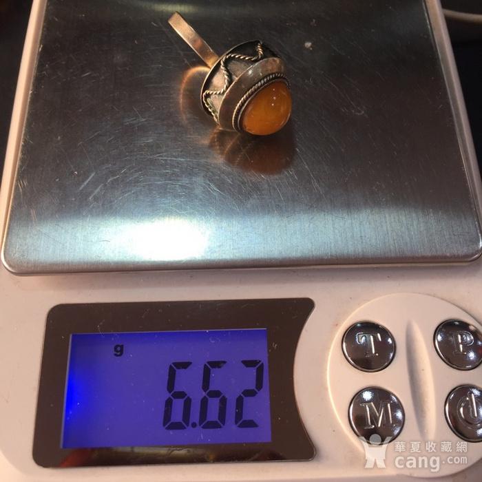 8060欧洲回流白铜镶嵌蜜蜡戒指图10