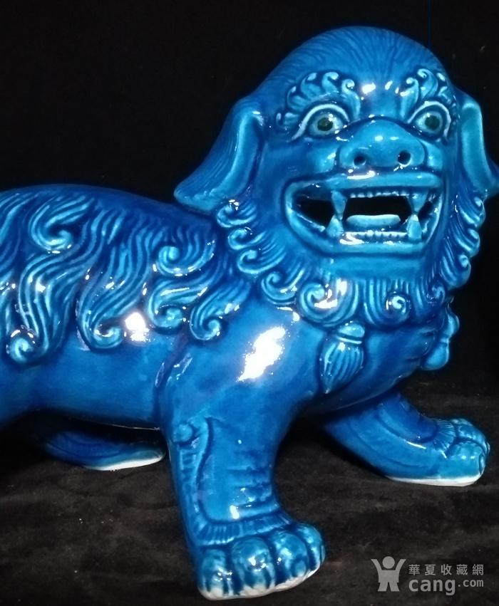 回流之孔雀蓝大摆狮子一对之壹图3