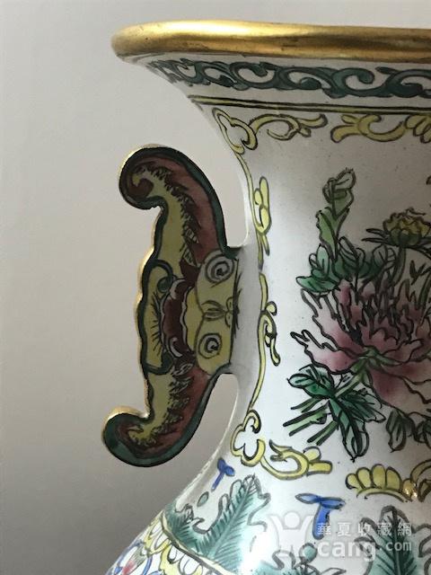 7517 铜胎画珐琅双耳瓶图3