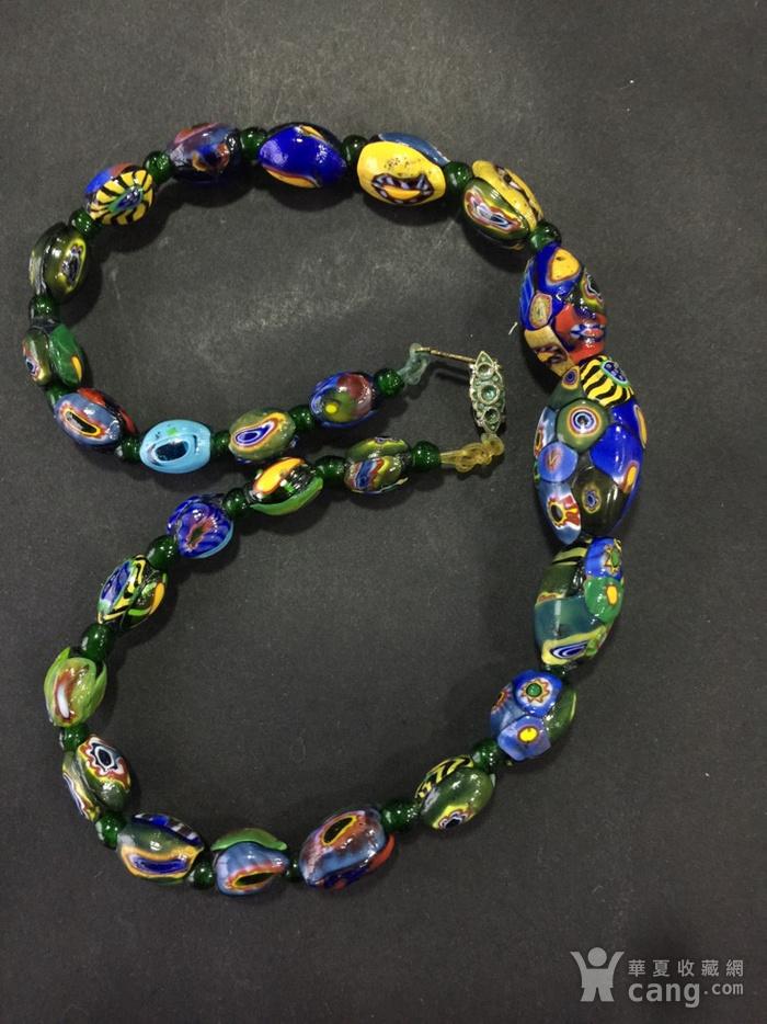 8064欧洲回流威尼斯老琉璃珠项链图2
