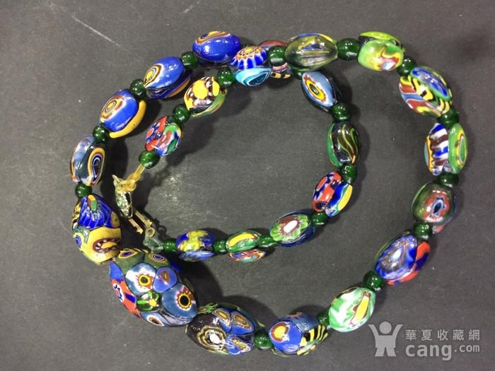 8064欧洲回流威尼斯老琉璃珠项链图4