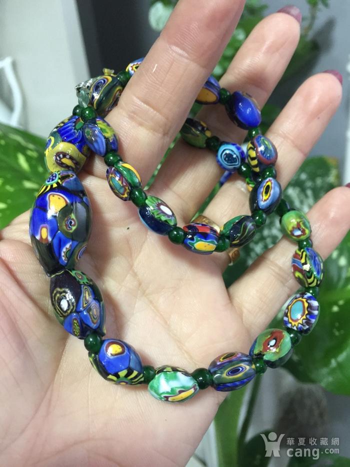 8064欧洲回流威尼斯老琉璃珠项链图6