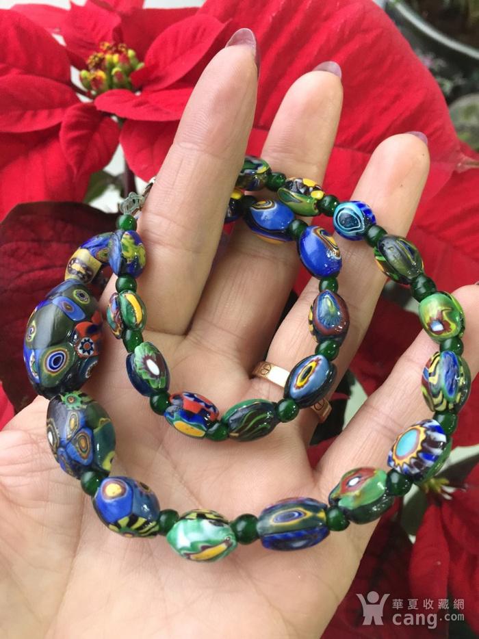 8064欧洲回流威尼斯老琉璃珠项链图8