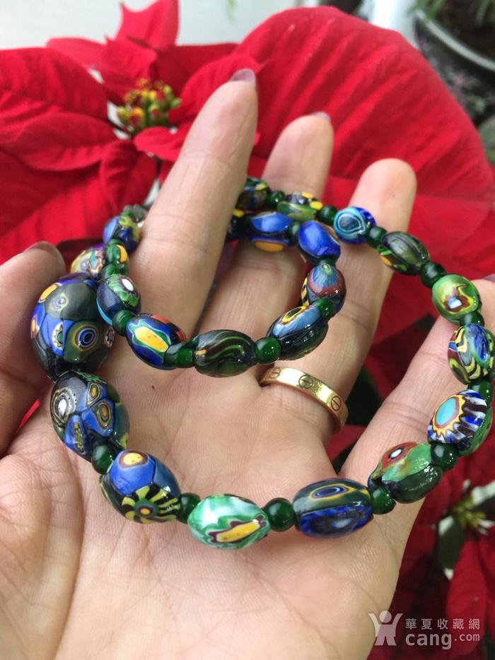 8064欧洲回流威尼斯老琉璃珠项链图9
