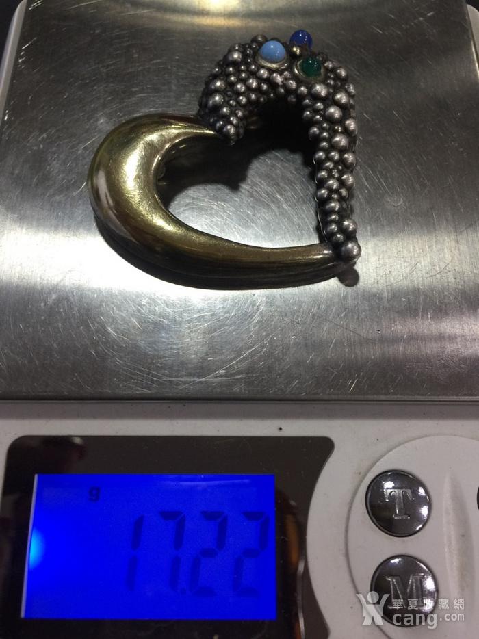 8066欧洲回流925银工心形胸针图10