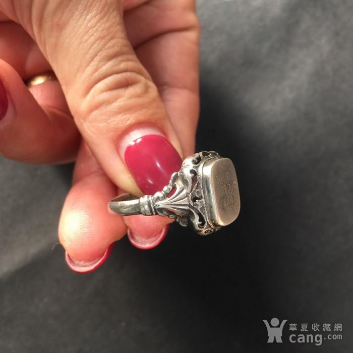 8074欧洲回流带族徽款银戒指图5