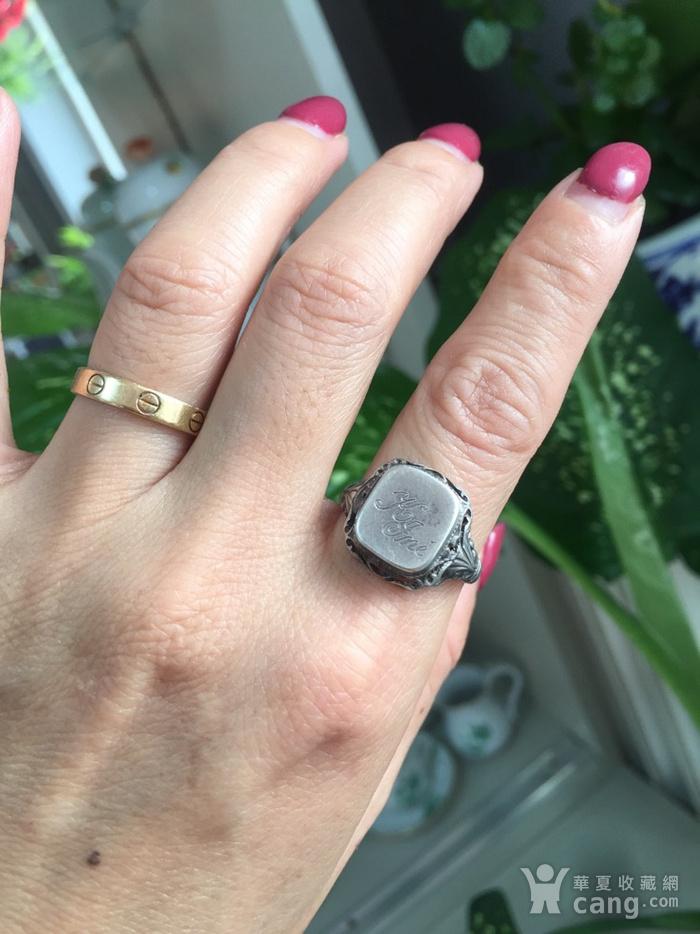8074欧洲回流带族徽款银戒指图6