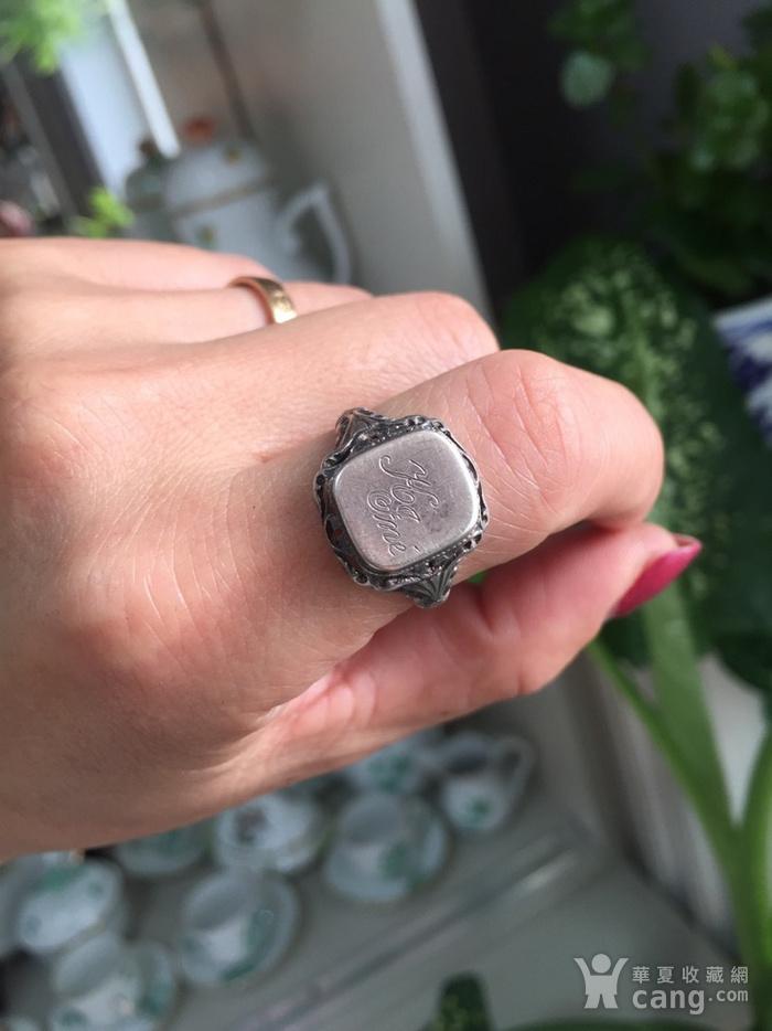 8074欧洲回流带族徽款银戒指图9