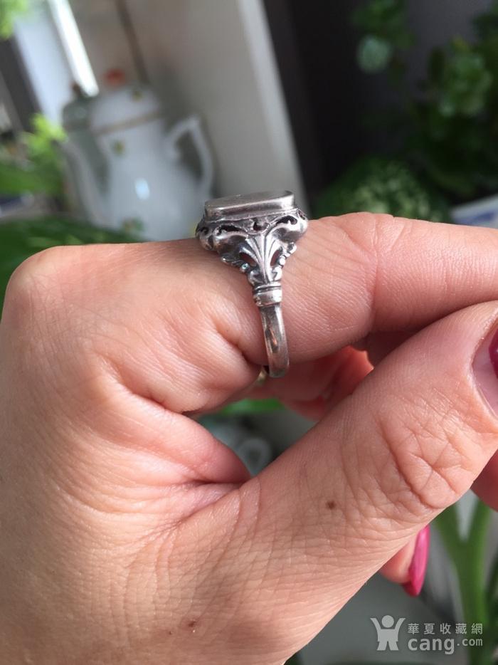 8074欧洲回流带族徽款银戒指图8