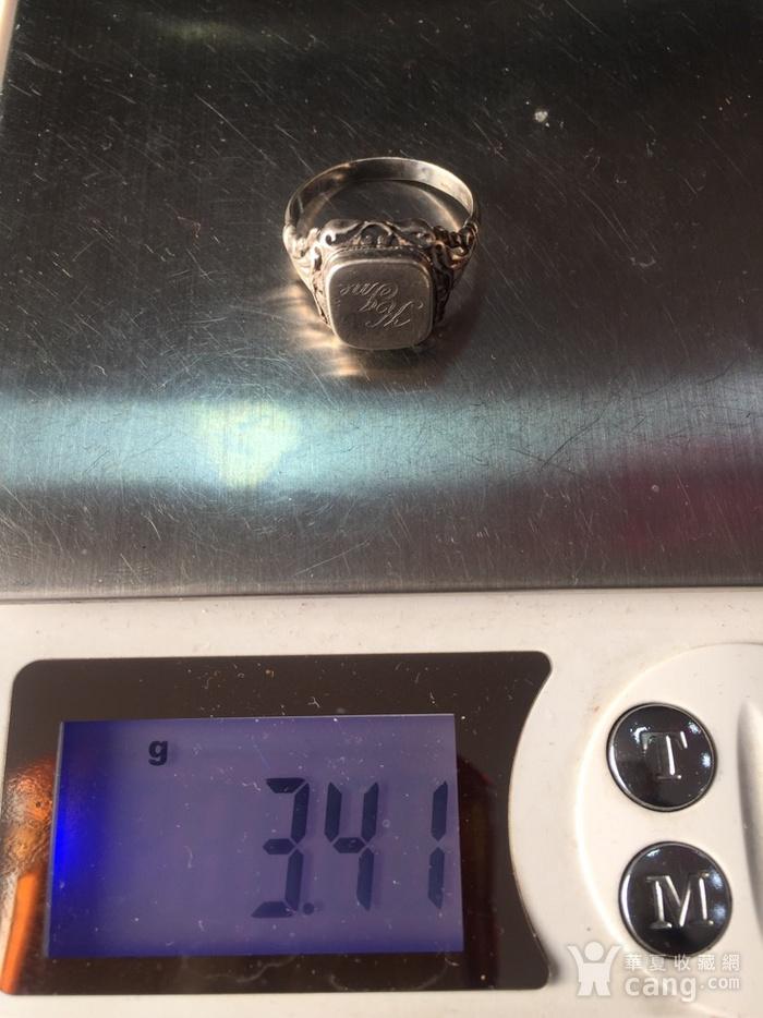 8074欧洲回流带族徽款银戒指图10