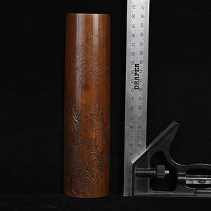 百年老煤竹纯手工雕臂胳摆件