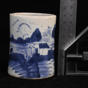 景德镇老瓷器厂青花小笔筒