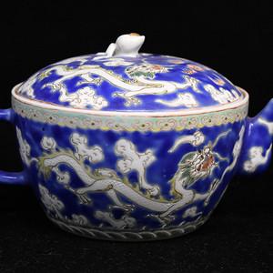 景德镇老瓷器厂粉彩茶壶