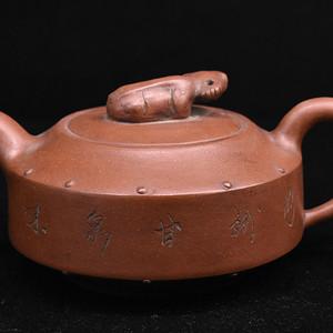 景德镇老瓷厂粉彩茶壶