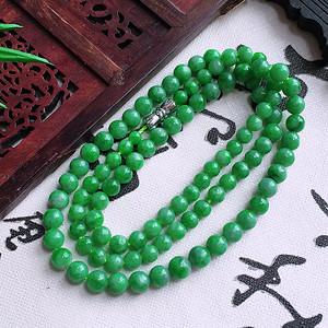 冰润阳绿圆珠项链