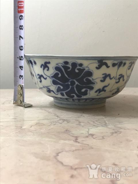 7469 民国 青花宝象花纹碗图10