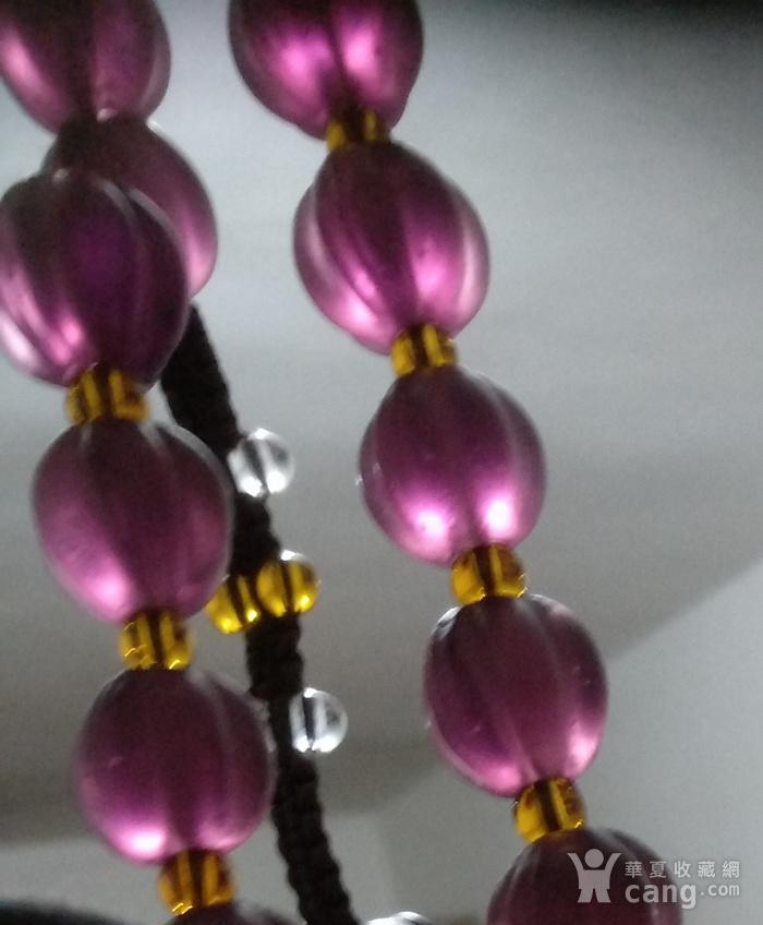 紫色琉璃瓜楞珠图4
