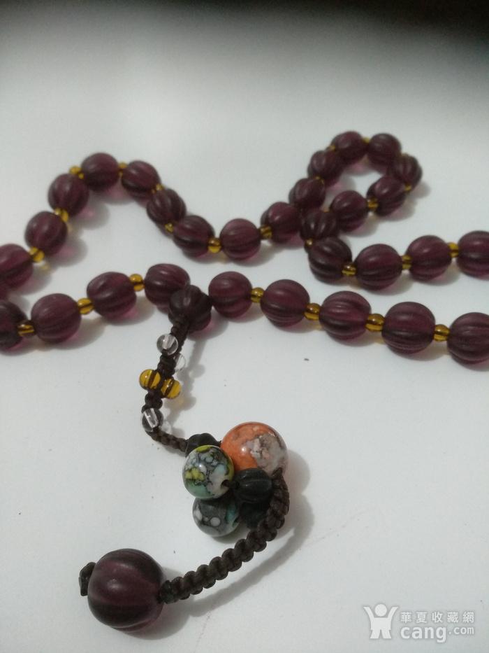 紫色琉璃瓜楞珠图5
