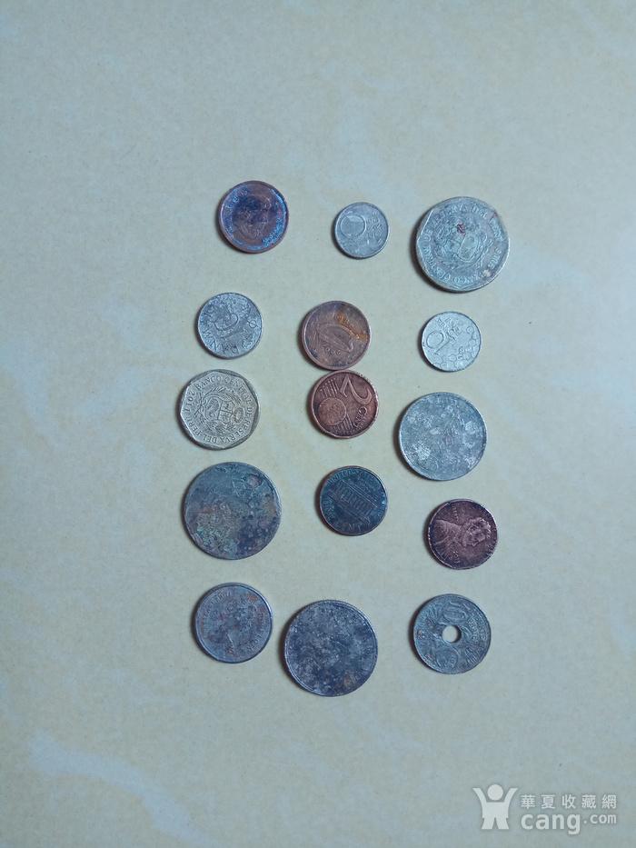 外国硬币15枚图1