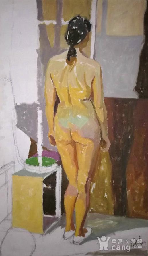 著名油画家布面油画《女人体》