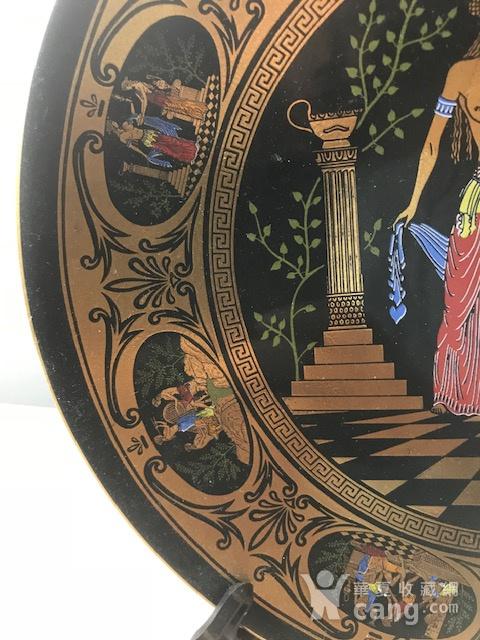 7526 欧洲回流希腊手工描金圆盘图3