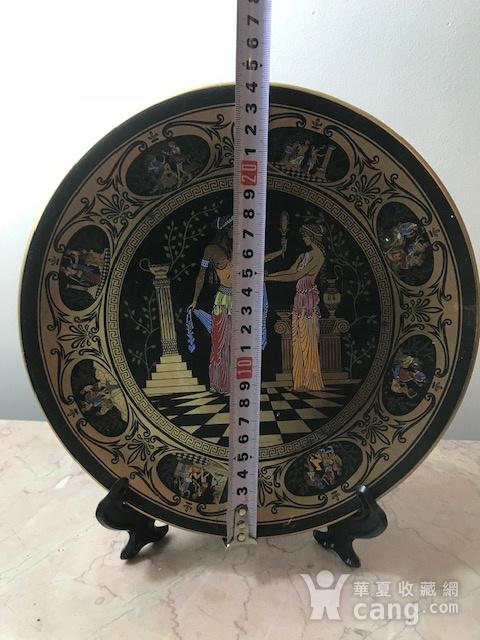 7526 欧洲回流希腊手工描金圆盘图6