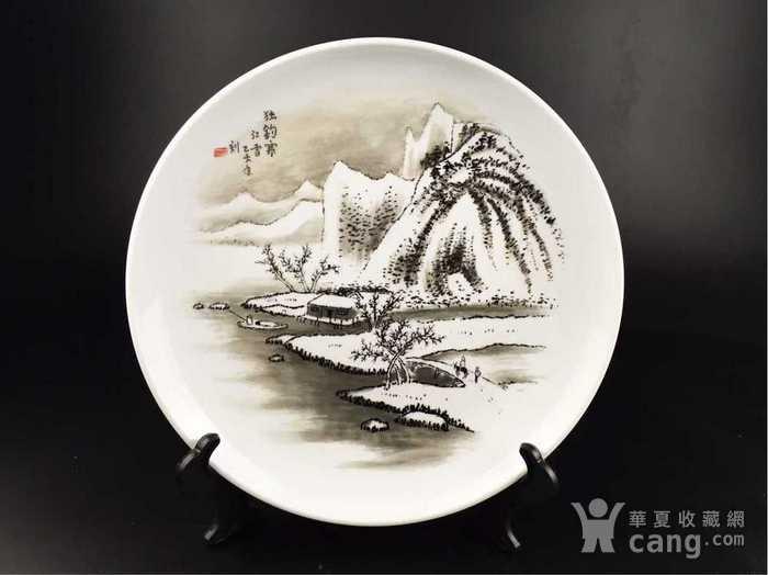 英国回流的中国刻瓷盘图1