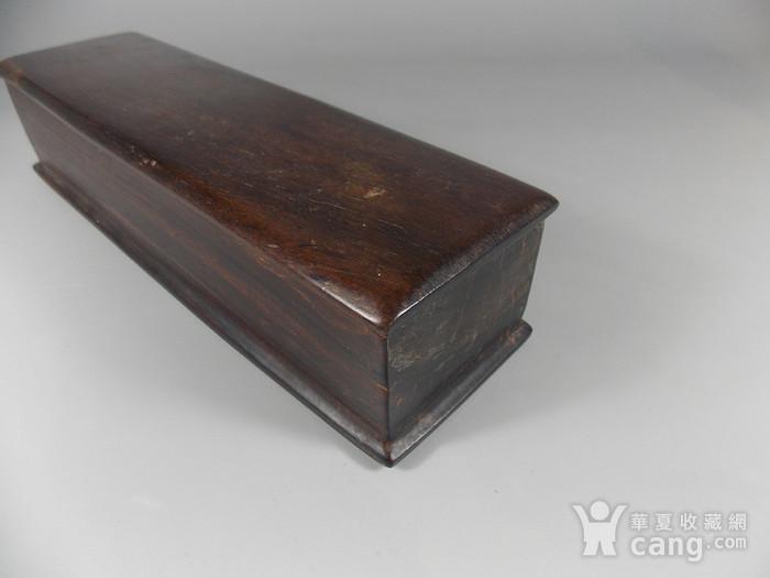 老红木整挖画盒图3